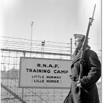 A Norwegian guard at the Island Airport 1940
