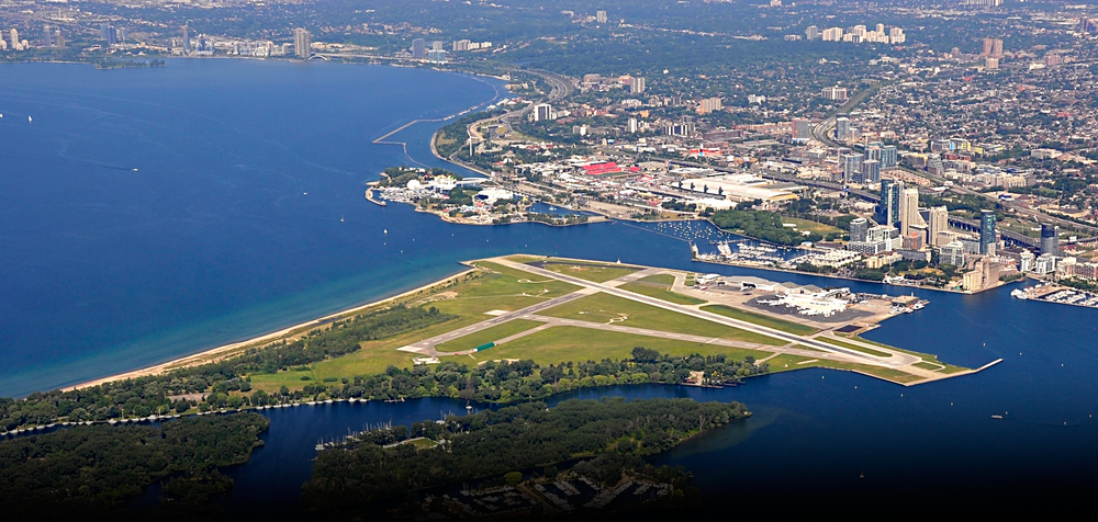 The Island Airport and the city